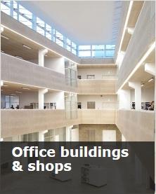 Office buildings & shops